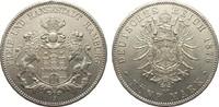 5 Mark Hamburg 1876 J Kaiserreich  vorzüglich / Stempelglanz  1490,00 EUR