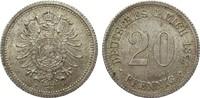 20 Pfennig 1877 F Kaiserreich  gutes vorzüglich  385,00 EUR kostenloser Versand