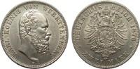 2 Mark Württemberg 1876 F Kaiserreich  besser als vorzüglich  895,00 EUR kostenloser Versand