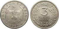 3 Mark Kursmünze 1932 J Weimarer Republik  vorzüglich / Stempelglanz  595,00 EUR kostenloser Versand