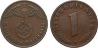 1 Pfennig 1936 G Drittes Reich  besser als sehr schön  45,00 EUR  plus 4,00 EUR verzending