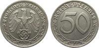 50 Pfennig 1939 F Drittes Reich  fast vorzüglich  42,00 EUR  plus 4,00 EUR verzending
