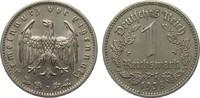 1 Mark 1938 F Drittes Reich  kl. Kratzer, sehr schön / vorzüglich  29,00 EUR  plus 4,00 EUR verzending