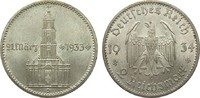 2 Mark Kirche 1934 D Drittes Reich  vorzüglich / Stempelglanz  50,00 EUR  plus 4,00 EUR verzending
