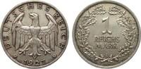 1 Mark 1927 A Weimarer Republik  vorzüglich  625,00 EUR kostenloser Versand