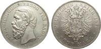 5 Mark Baden 1876 G Kaiserreich  besser als vorzüglich  2450,00 EUR kostenloser Versand