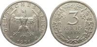 3 Mark Kursmünze 1931 A Weimarer Republik  wz. Rf., l. berieben, vorzüg... 275,00 EUR kostenloser Versand