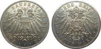 5 Mark Lübeck 1908 A Kaiserreich  vorzüglich / Stempelglanz  850,00 EUR kostenloser Versand