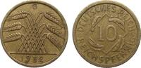 10 Pfennig 1932 G Weimarer Republik  besser als sehr schön  1160,00 EUR