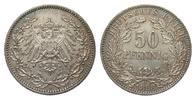 50 Pfennig 1898 A Kaiserreich  wz. Kratzer, vorzüglich  315,00 EUR kostenloser Versand