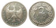 2 Mark 1931 G Weimarer Republik  wz. Kr. u. Flecke, polierte Platte  445,00 EUR kostenloser Versand