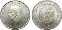 5 Mark Schiller 1934 F Drittes Reich  kl. Kratzer, vorzüglich / Stempel... 285,00 EUR kostenloser Versand