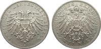2 Mark Lübeck 1901 A Kaiserreich  knapp vorzüglich  340,00 EUR kostenloser Versand