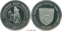 Silbermedaille 1975 Ghana Ghana  Republic Riffelrand polierte Platte  285,00 EUR kostenloser Versand