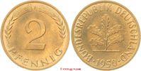 2 Pfennig 1950   Stempelglanz  30,00 EUR  zzgl. 5,00 EUR Versand