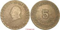5 Centavos 1915 Mexico Mexico flaue Vorderseite sehr schön  50,00 EUR  zzgl. 5,00 EUR Versand