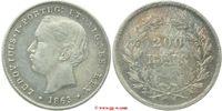 200 Reis 1863 Portugal Portugal vorzüglich - Stempelglanz  130,00 EUR  zzgl. 5,00 EUR Versand