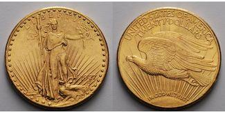20 $  30,09g fein 34 mm 1908-1933  USA Lib...