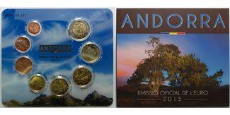 3,88 € 2015  Andorra 2.amtlicher Euro Kursmünzensatz, mit allen 8 Münzen,sofort lieferbar !!! stgl. im Blister