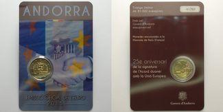 2 Euro 2015  Andorra 25 Jahre Zollunion mi...
