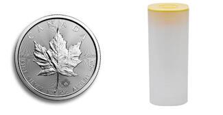 100 x 5 Dollar 2016  Kanada 100 x Maple Leaf in Silber, 1 Unze Feinsilber,zum Silberpreis i.orig.Tube stgl