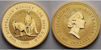1 oz./ 31,1g. fein 1998  Australien 100 Do...
