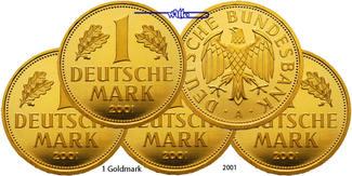 1 Mark 5 x 12,00g fein 23 mm Ø 2001 ADFGJ ...