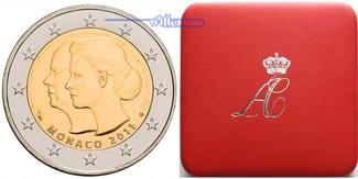 2 Euro 2011  Monaco Hochzeit v.Fürst Alber...