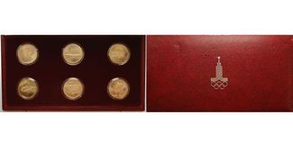 6x100 Rubel 6x15,55g fein 1978-1980  Russl...