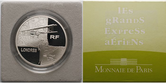 1 1/2 Euro 2004 Frankreich Air France/Japan, Transportserie inkl. Etui & Zertifikat & Schuber PP