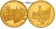 Deutschland 100 Euro<br>15,55g<br>fein<br>28 mm  Stadt Bamberg,<br><b> Prgesttte A</b>