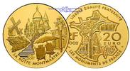 Frankreich 20 Euro, 15,64g <br>fein<br>31 mm  Montmartre (Bedeutende Bauwerke), 2. Ausgabe inkl. Etui & Zertifikat & Schuber