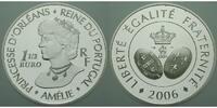 Frankreich 1 1/2 Euro Königin Amelie v. Portugal inkl. Etui & Zertifikat & Schuber