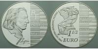 Frankreich 1 1/2 Euro Frederic Chopin inkl. Etui & Zertifikat & Schuber