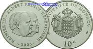 10 Euro 2003 Monaco Albert/Rainer III. / Wappen, inkl.Etui & Zertifikat... 185,00 EUR  zzgl. 5,00 EUR Versand