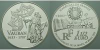 Frankreich 1 1/2 Euro Marquis de Vauban, Militärbaumeister / Europaprogramm