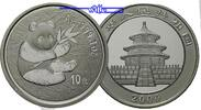 China 10 Yuan 2000  stgl Panda Bären, 1 oz, Silber, in der originalen Ka... 550,00 EUR