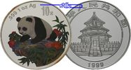10 Yuan 1999 China China Panda, farbig, PP PP  195,00 EUR  + 17,00 EUR frais d'envoi