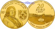 Frankreich 20 Euro,<br> 15,64g fein<br> 31 mm  Stanislas Leszczynski - 1677-1766 - Herzog von Lothringen und Knig von Polen