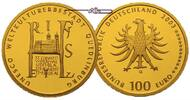 Deutschland 100 Euro<br>15,55g<br>fein<br>28 mm  Stadt<br> Quedlinburg,<br><b> Prgesttte A</b>