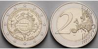2 Euro 2012 A Deutschland 10 Jahre Euro Bargeld,Prägestätte A stgl  3,30 EUR  + 7,00 EUR frais d'envoi