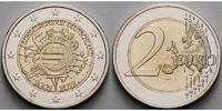 2 Euro 2012 J Deutschland 10 Jahre Euro Bargeld,Prägestätte J stgl  3,10 EUR  + 7,00 EUR frais d'envoi