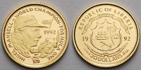 Liberia 20 Dollar<br>1,24g fein<br>14 mm ...