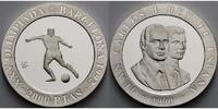Spanien 2000 Pesetas  Oly. Sommerspiele in Barcelona - Fuball - inkl. Kapsel mit  MDM-Zertifikat