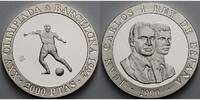 Spanien 2000 Pesetas  Oly. Sommerspiele in Barcelona - Fuball - inkl. Kapsel