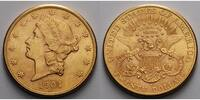 USA 20 $<br> 30,09g<br>fein<br>34 mm Liberty, San Francisco 1904 S Gold, (Coronet Head Double Eagle)