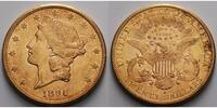 USA 20 $<br> 30,09g<br>fein<br>34 mm Liberty, San Francisco 1896 S Gold, (Coronet Head Double Eagle)
