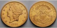 20 $ 30,09gfein34 mm 1877-1907 USA Liberty, ohne Münzzeichen, Philadelp... 2295,00 EUR  + 23,00 EUR frais d'envoi