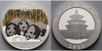 10 Yuan 2013 China China Panda, farbig  --  30-jähriges Jubiläum stgl  57,95 EUR  + 17,00 EUR frais d'envoi