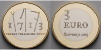 3 Euro 2013 Slowenien Bauernaufstand in originaler Kapsel PPBimetall  14,80 EUR  + 7,00 EUR frais d'envoi